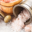 Salt in a mortar  — Stock Photo