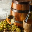 Still life with wine — Stock Photo