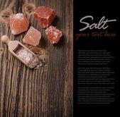 Гималайская Розовая соль — Стоковое фото