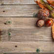 Background with chestnut leaves — Stock Photo