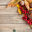 Stock Photo: Border made of autumn leaves
