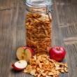 Stock Photo: Dried apple