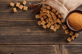 Brown sugar concept — Stock Photo