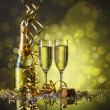 Two champagne glasses — Stock Photo