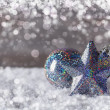 Blue christmas baubles — Photo