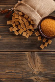 Brown sugar concept — Stock Photo