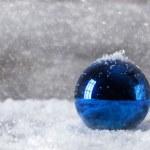 Синий Рождественский бал — Стоковое фото