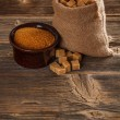 Brown sugar cubes — Foto Stock