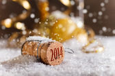 Champagne kurken — Stockfoto
