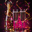Two champagner glasses — Stock Photo