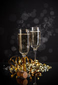Champagne glasses — Stock Photo