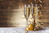 Gold Christmas balls — Stock Photo