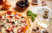 Homemade pizza — Stock Photo