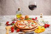 Fresh homemade pizza — Stock Photo