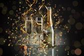 Nowego roku szampanem — Zdjęcie stockowe