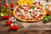 Pizza with ingredients — Foto de Stock