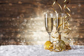 Glass of fizz — Stock Photo