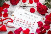 Calendar page — Stock Photo