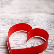 Stock Photo: Red paper heart