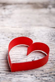 Red paper heart — Stock Photo