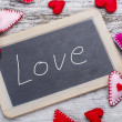 Stock Photo: Love handwritten message