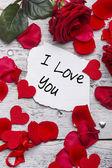 Ik hou van je kaart — Stockfoto