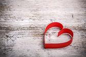Valentine's paper heart — Stock Photo