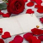 marco con rosas rojas — Foto de Stock