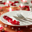 Romantic set table — Stock Photo