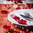 Valentine' day dinner — Stock Photo