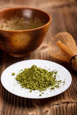 Matcha tea powder — Stock Photo