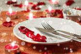 Romantic set table — Stockfoto