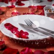 Table setting for lovers — Stock Photo