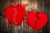 Concepto de corazón roto — Foto de Stock