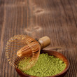 Stock Photo: Powdered green matchtea
