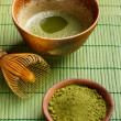 Stock Photo: Powdered green tea