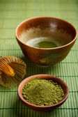 Bowl of matcha — Stock Photo