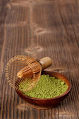 Powdered green matcha tea — Stock Photo