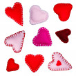 Small felt hearts — Stock Photo #40588713