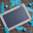 Black chalkboard — Stock Photo