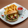 Burger and fries — Stock Photo #44257345