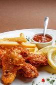 Spicy breaded chicken legs — Foto de Stock