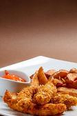Crispy chicken breast — Stock Photo
