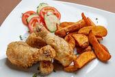Muslos de pollo asado — Foto de Stock