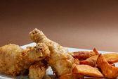 Patas de pollo marinado — Foto de Stock