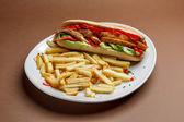 Chicken schnitzel sandwich — Stockfoto