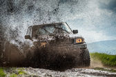 Jeep in mud — Stock Photo