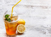 Fresh ice tea — Stock Photo
