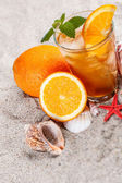 Cold orange tea  — Stock Photo