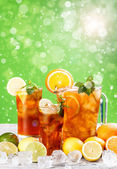 Summer iced tea — Stock Photo